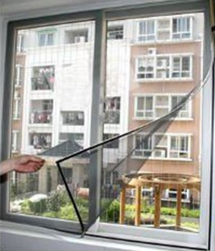 Magnetic Net Window Screen will let fresh air in the room or spaces